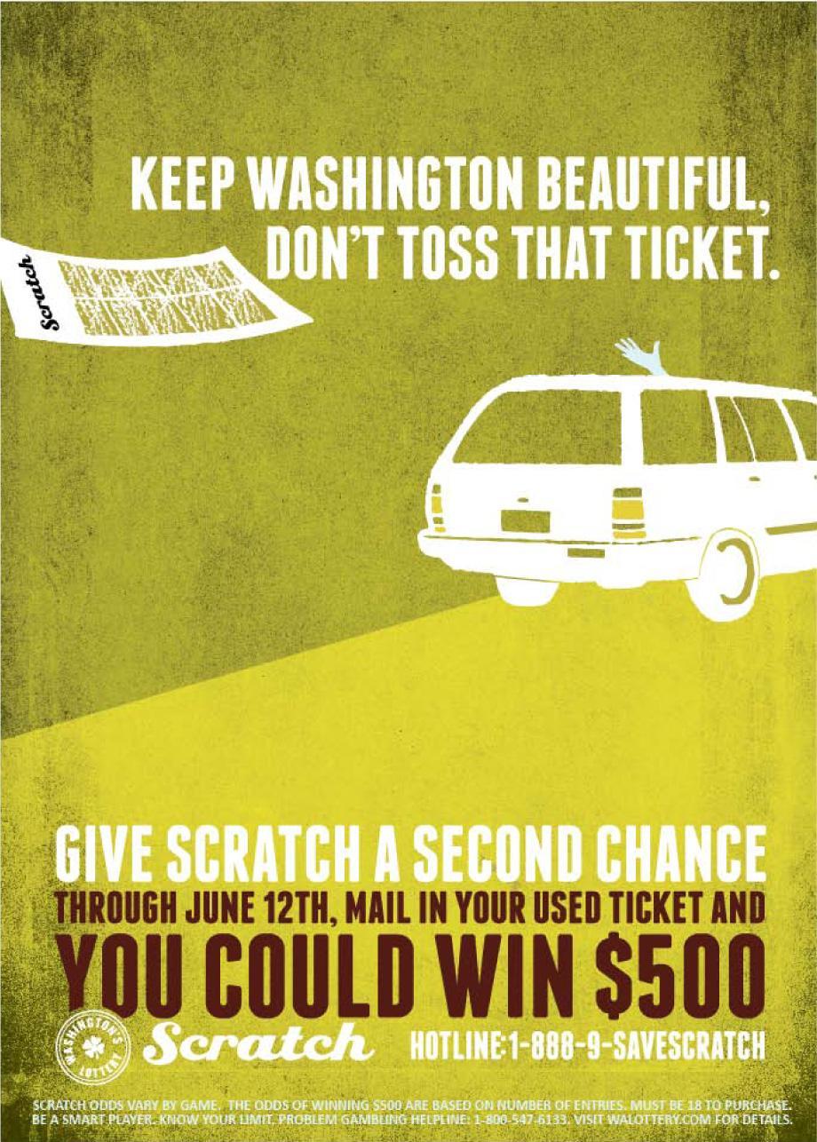 Washington Lottery Print Ad -  Toss