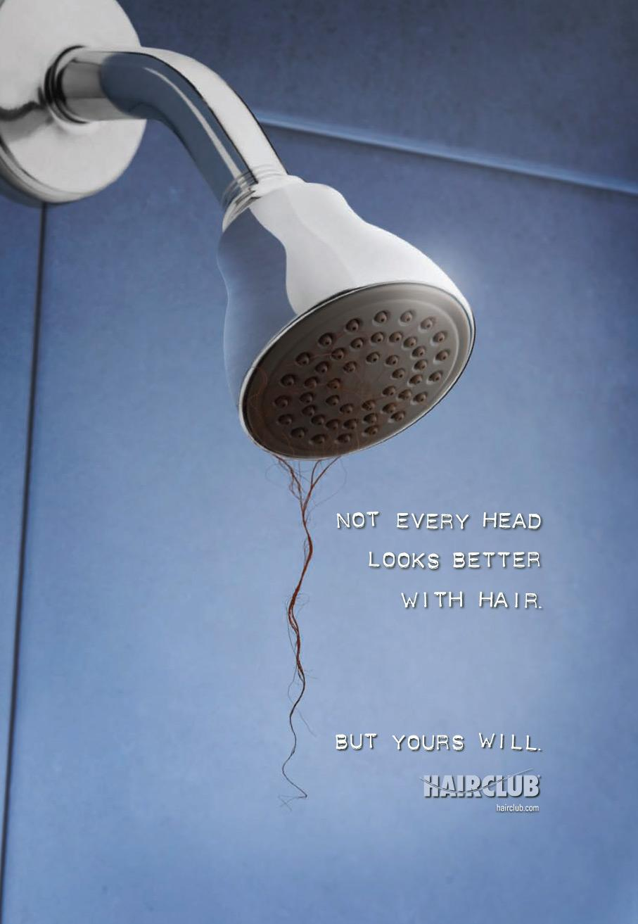 Hair Club Print Advert By Wonder: Shower | Ads of the World™