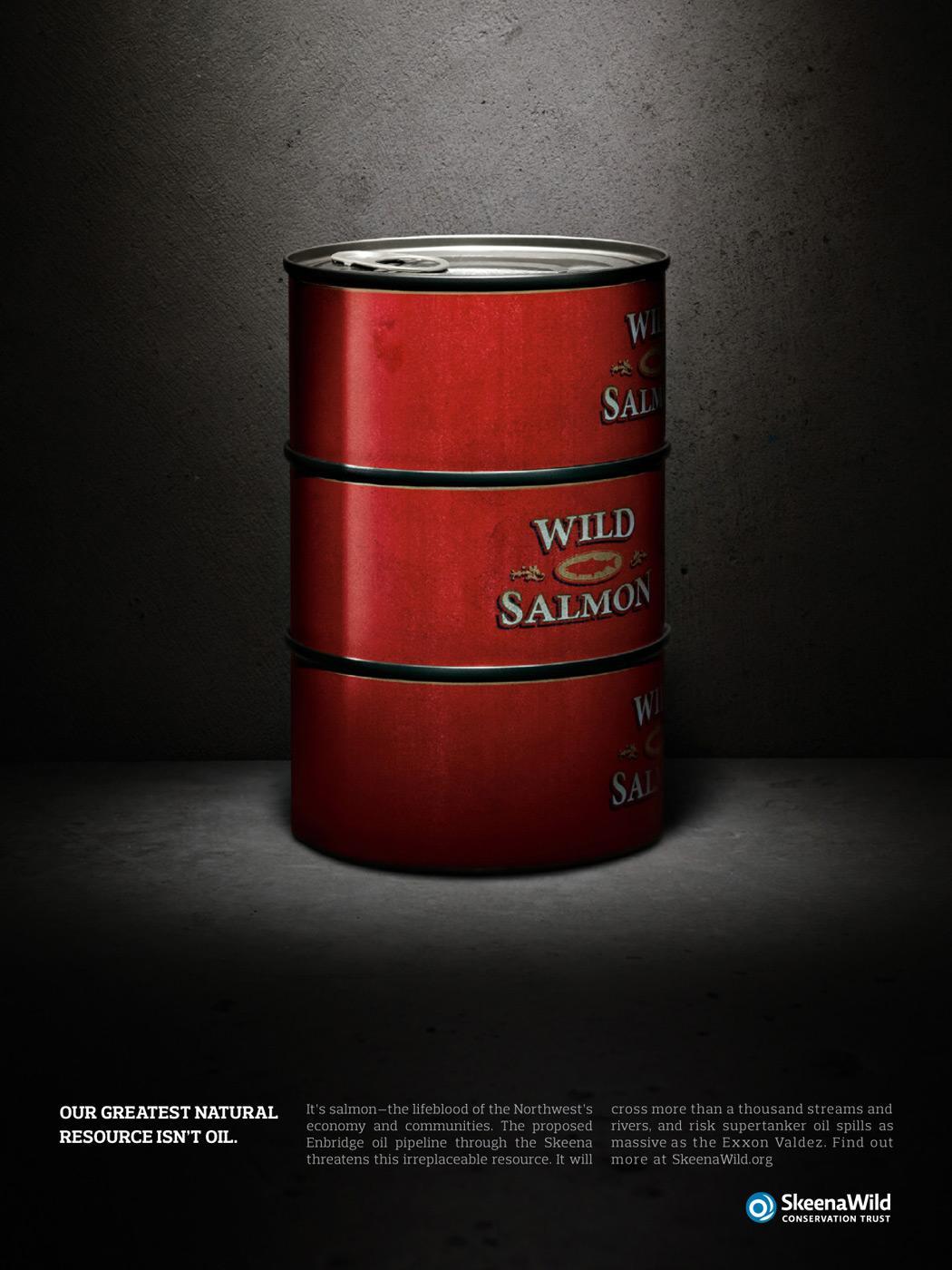 Skeena Print Ad -  Oil drum