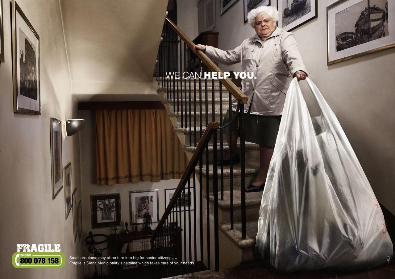 Fragile Print Ad -  We can help you, Bag