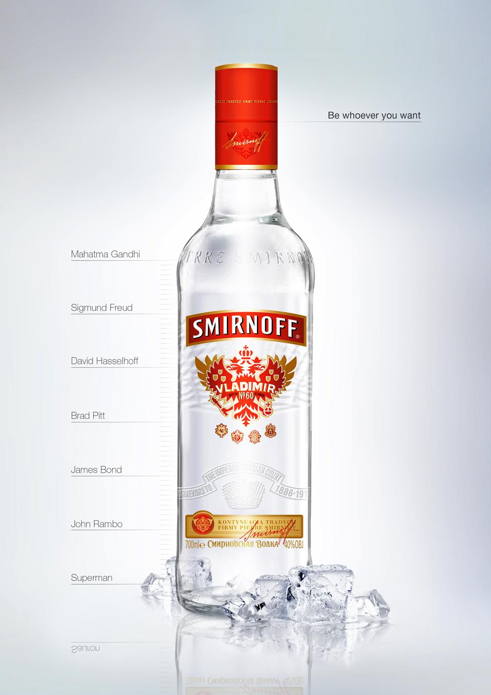 Smirnoff Print Ad -  Be whoever you want