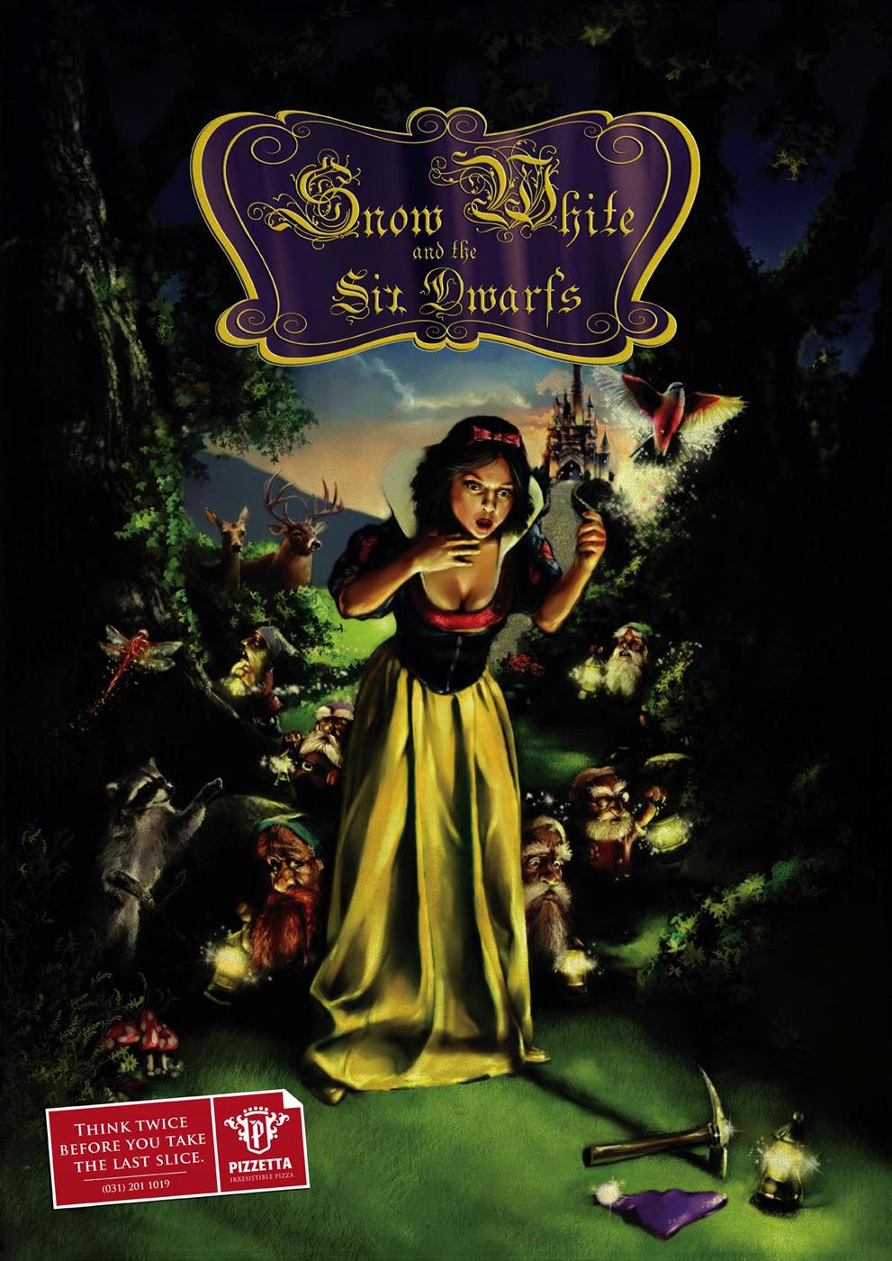 Pizzetta Print Ad -  Snow White