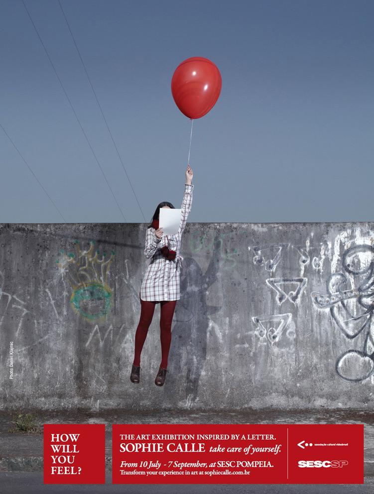 Sophie Calle Print Ad -  Balloon