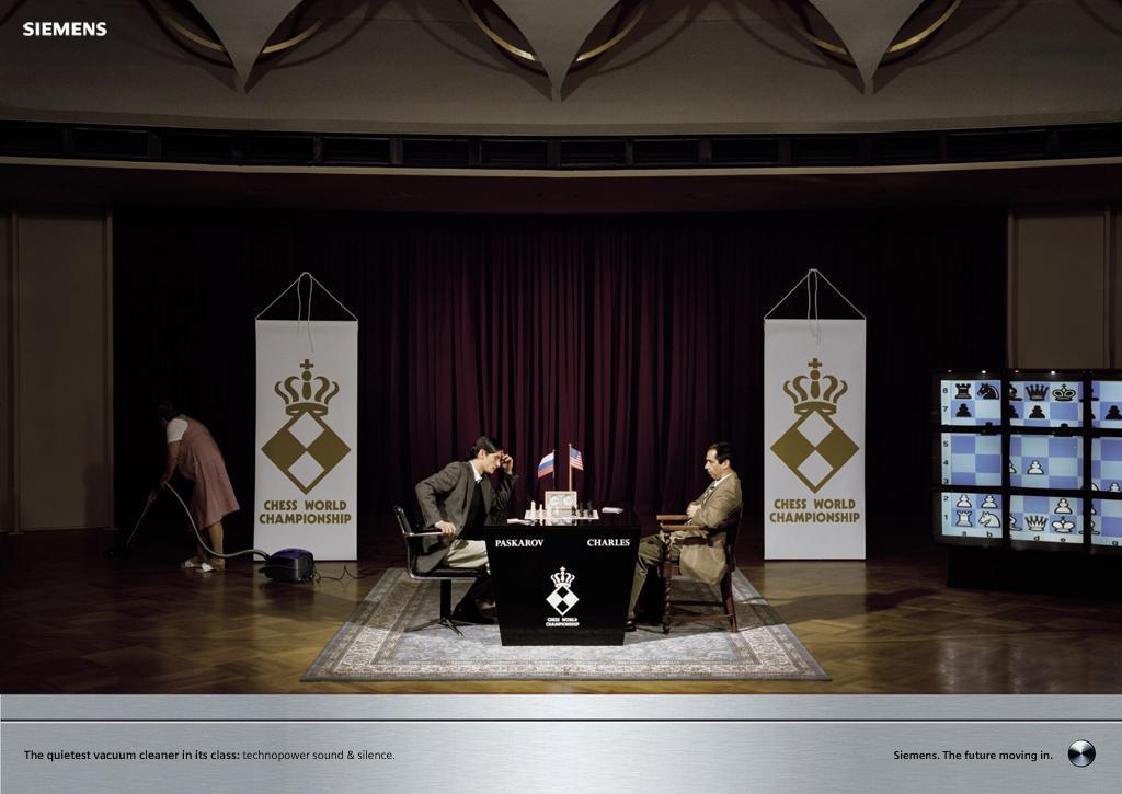 Siemens Print Ad -  Chess championship