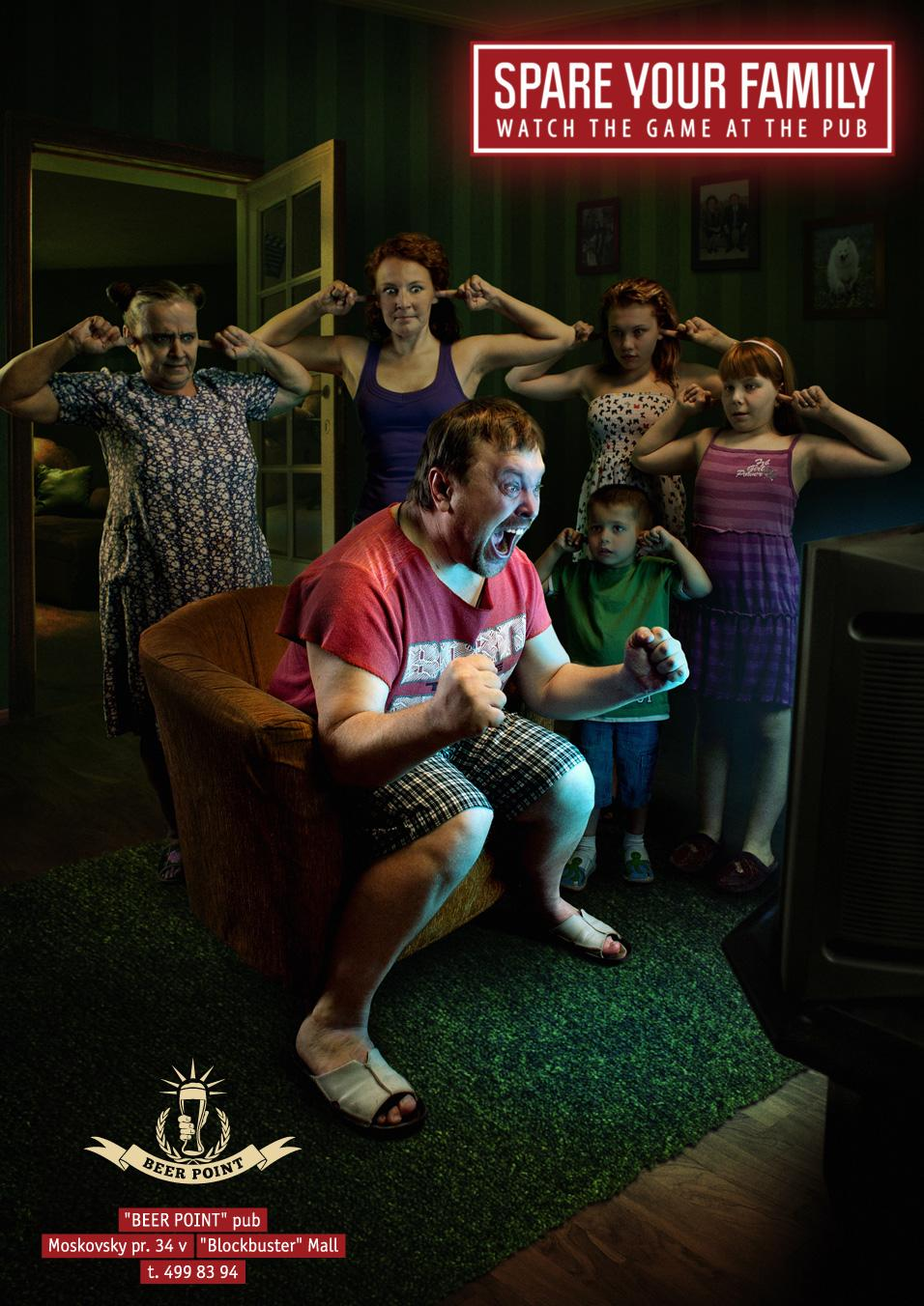 Beer Point Print Ad -  Spare your family