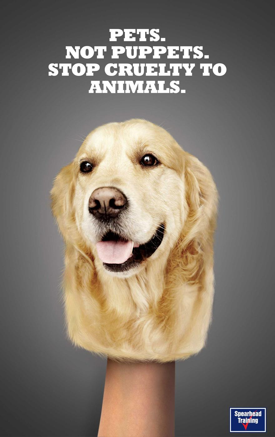 Spearhead Print Ad -  Dog Puppet