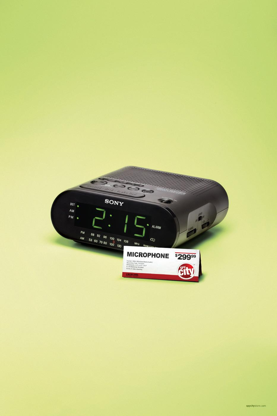 Spy City Print Ad -  Alarm clock