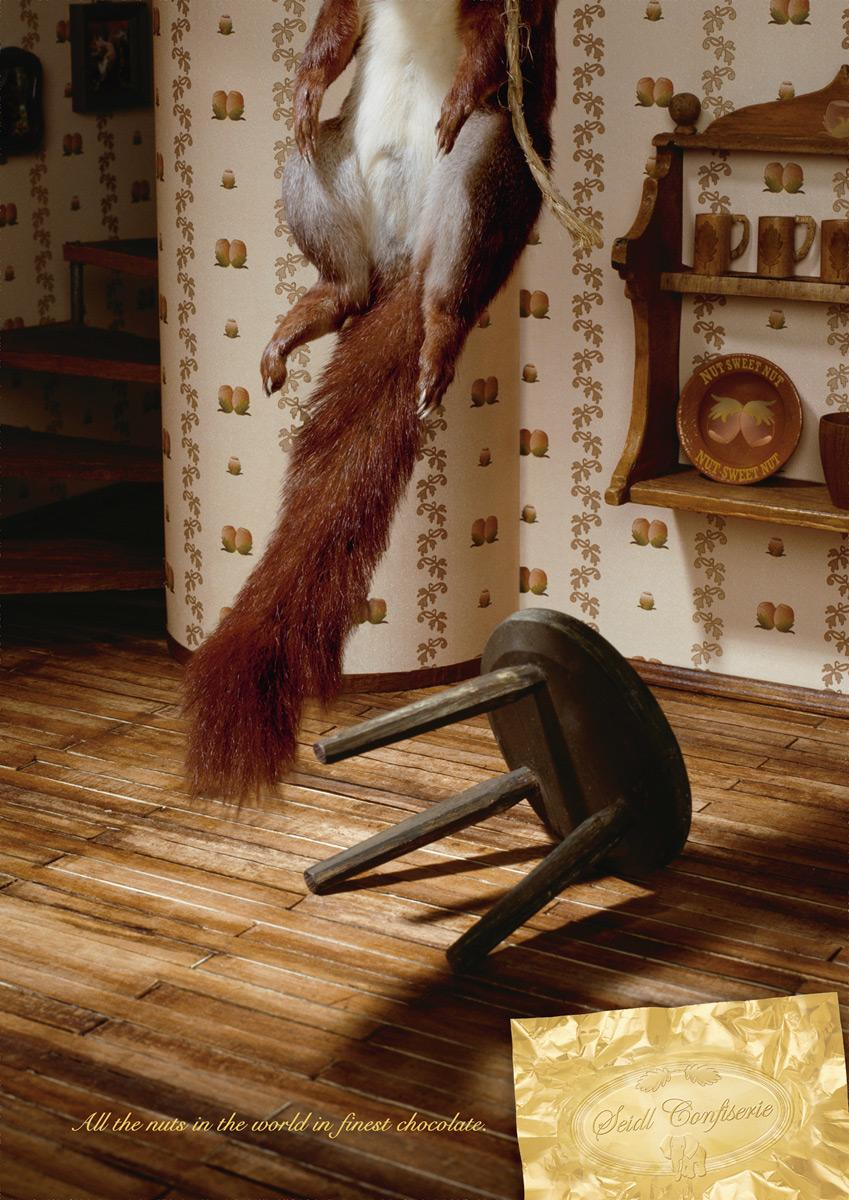 Confiserie Seidl Print Ad -  Squirrel, Rope