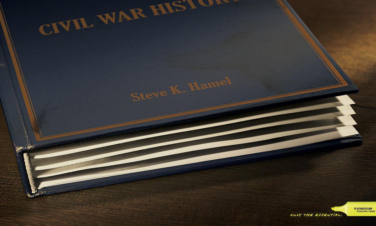 Staedtler Print Ad -  Civil war history