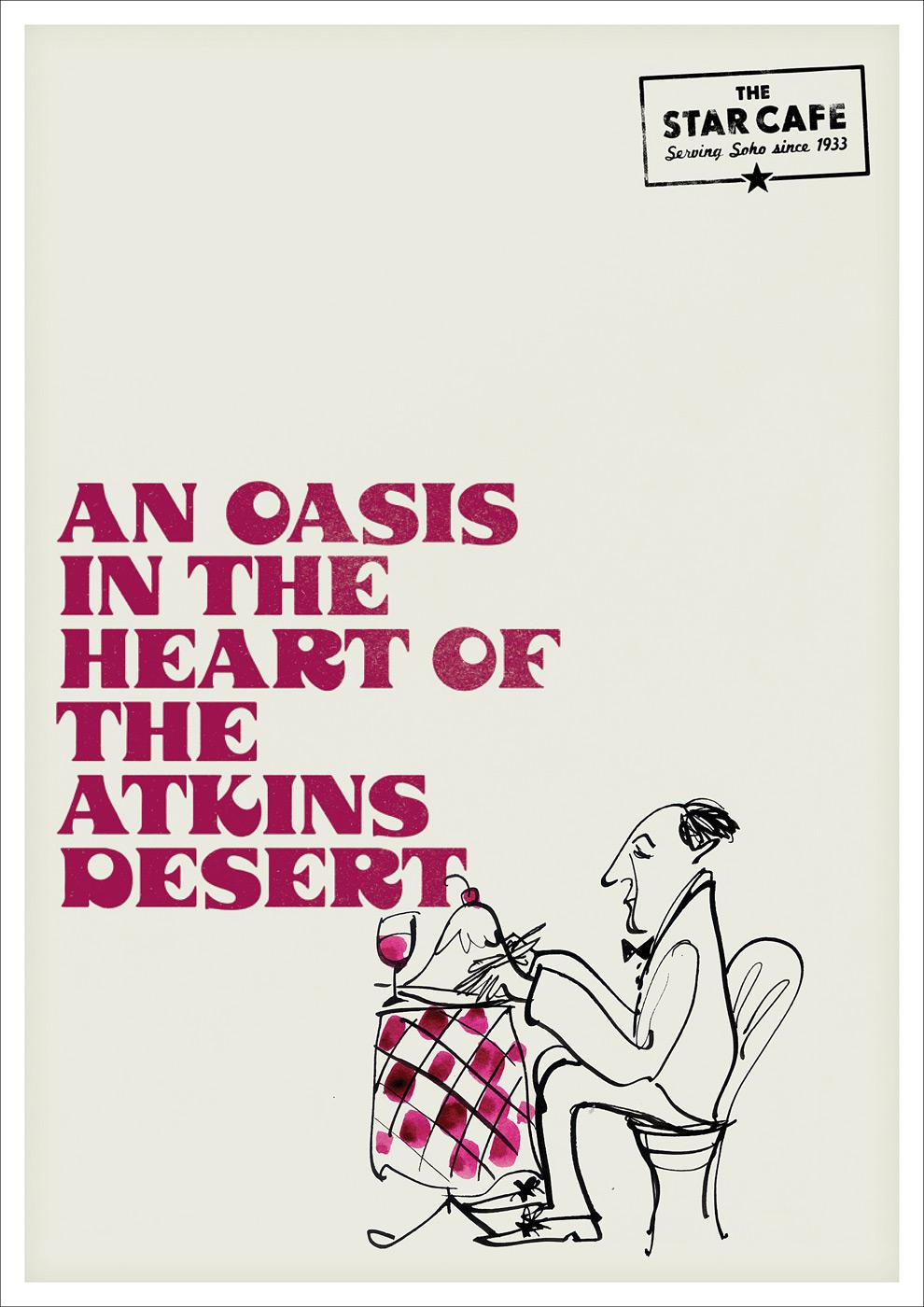 The Star Café Print Ad -  Atkins