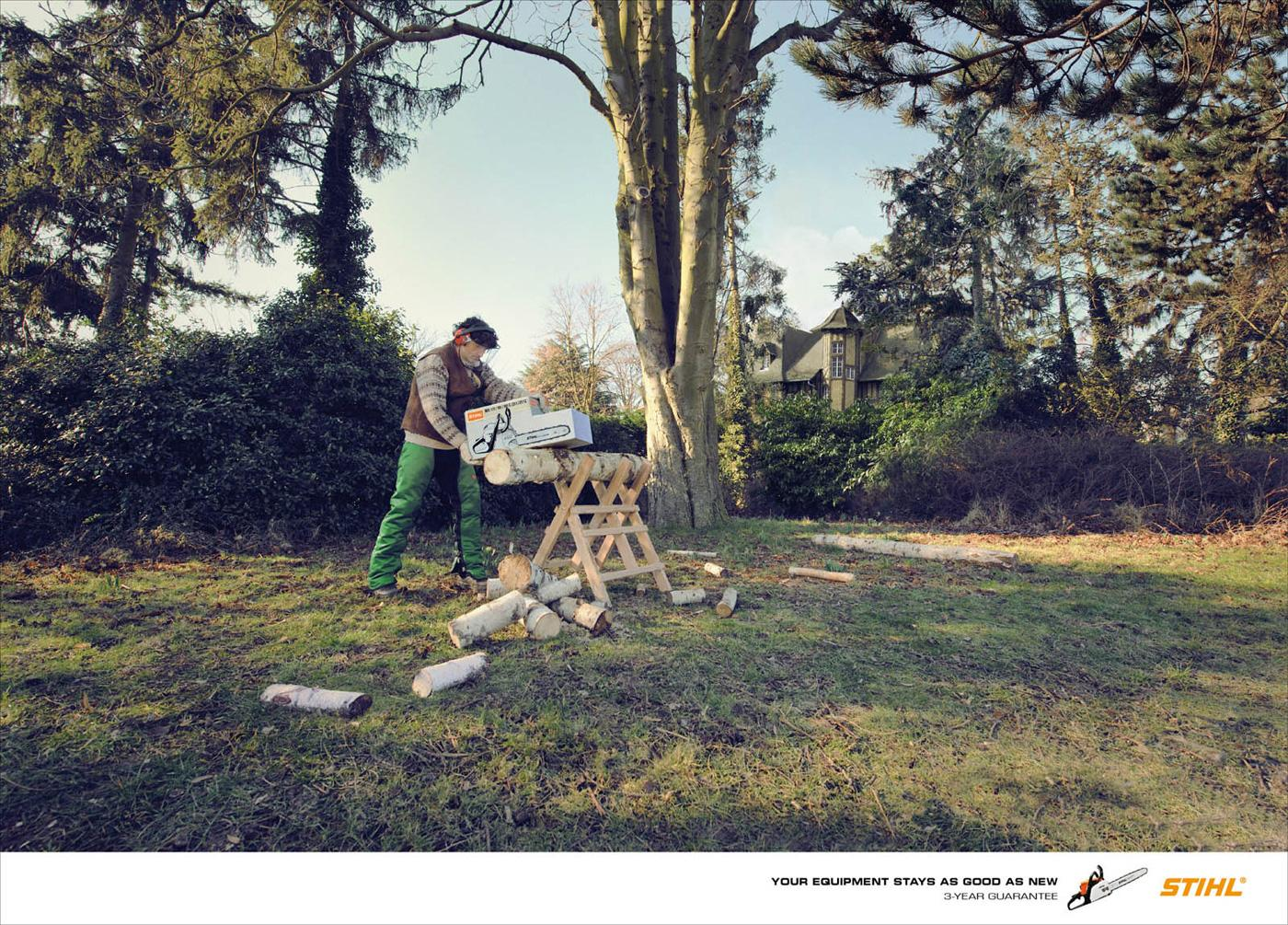 Stihl Print Ad -  As good as new, Chainsaws