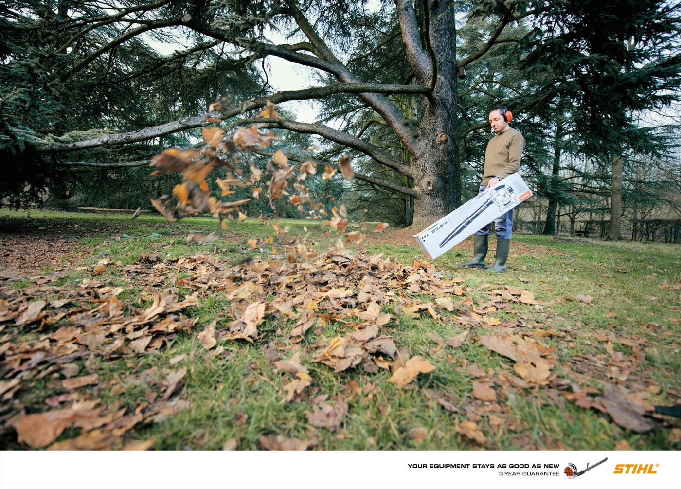 Stihl Print Ad -  As good as new, Blower