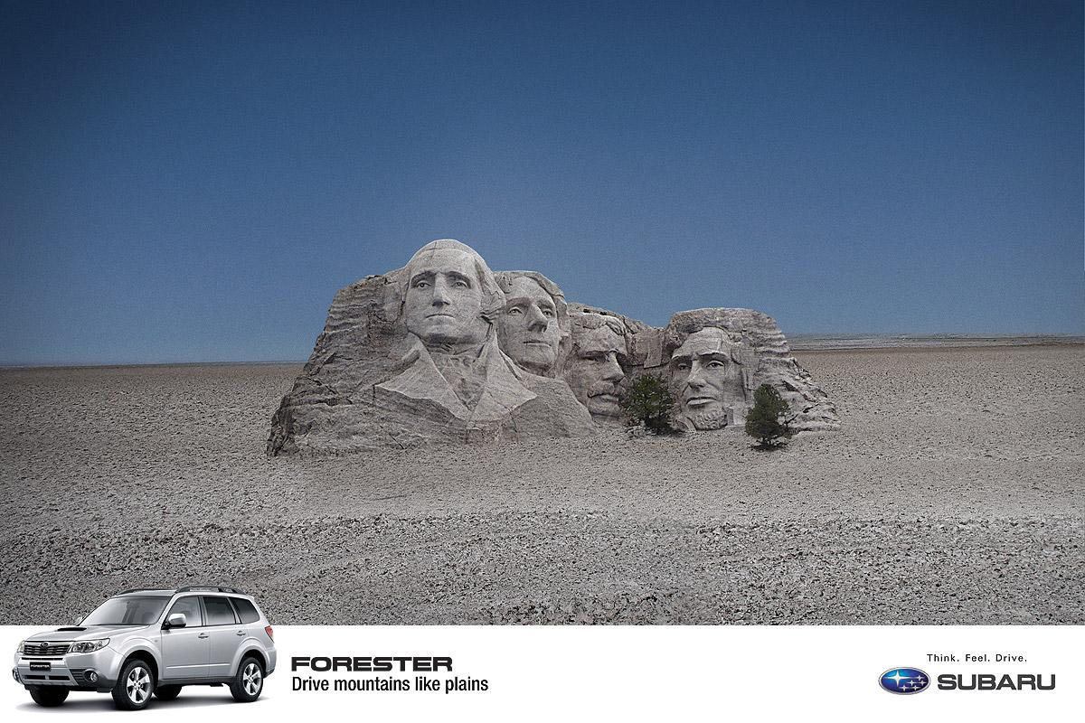 Subaru Print Ad -  Mount Rushmore
