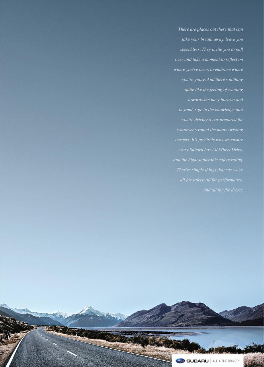 Subaru Print Ad -  All 4 the Corners