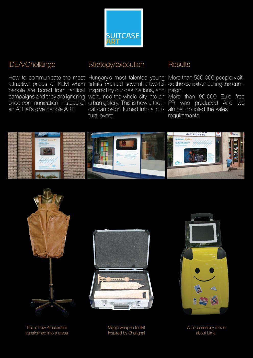 KLM Print Ad -  Suitcase Art Project
