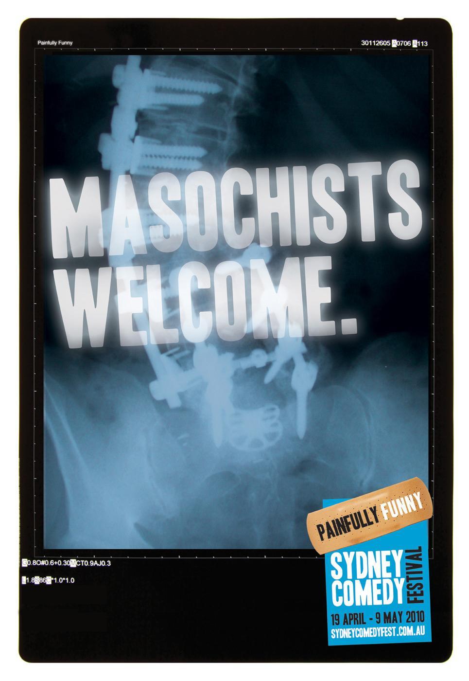 Sydney Comedy Festival Print Ad -  Masochists