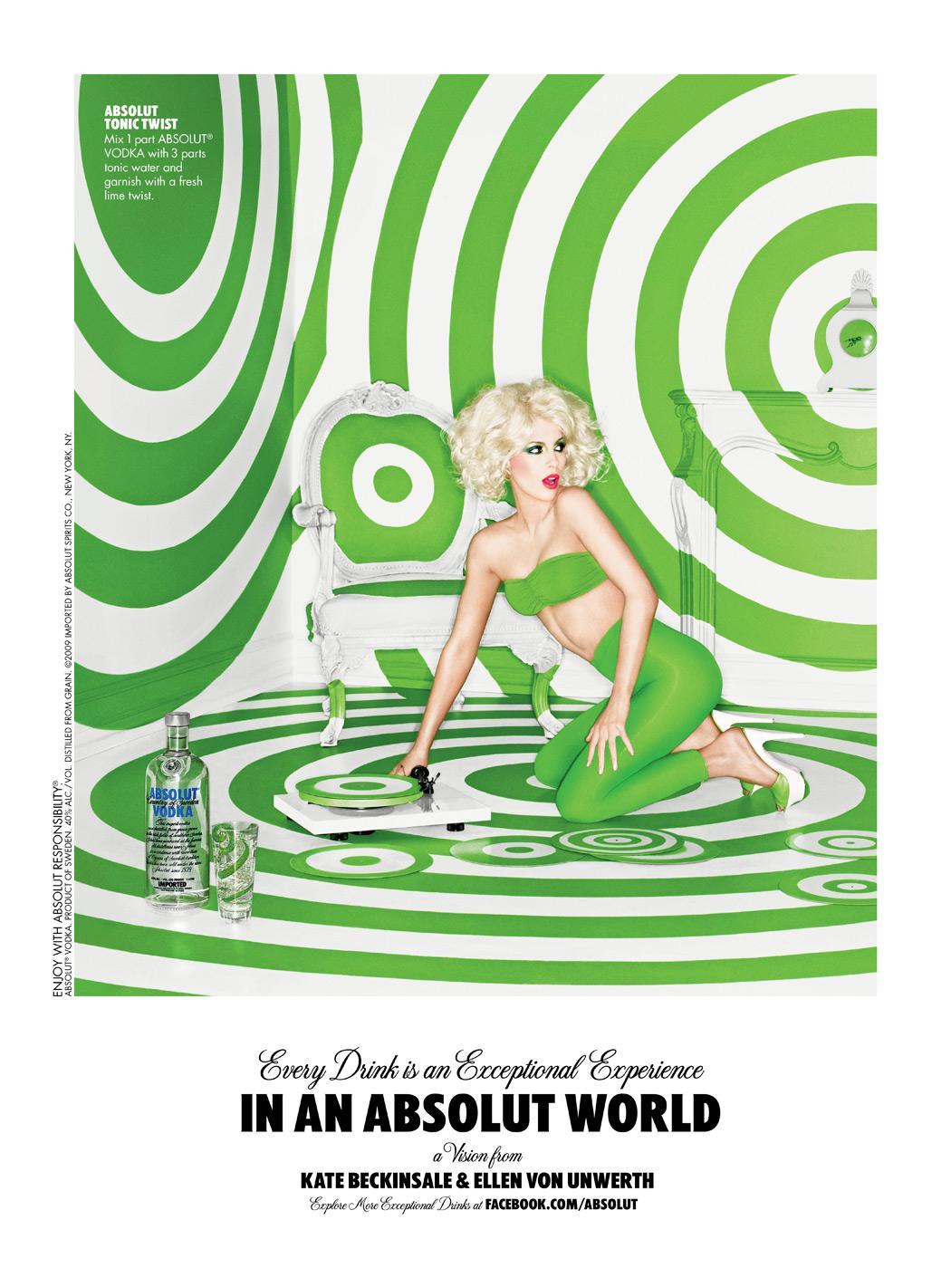 Absolut Print Ad -  Swirl