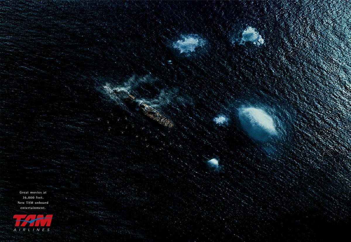 TAM Airlines Print Ad -  Titanic