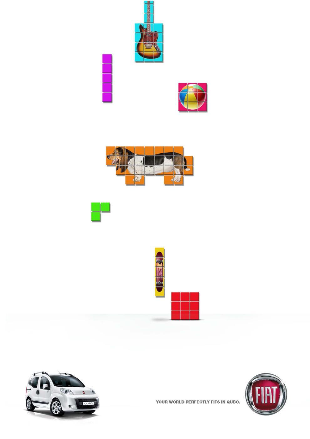 Fiat Print Ad -  Tetris