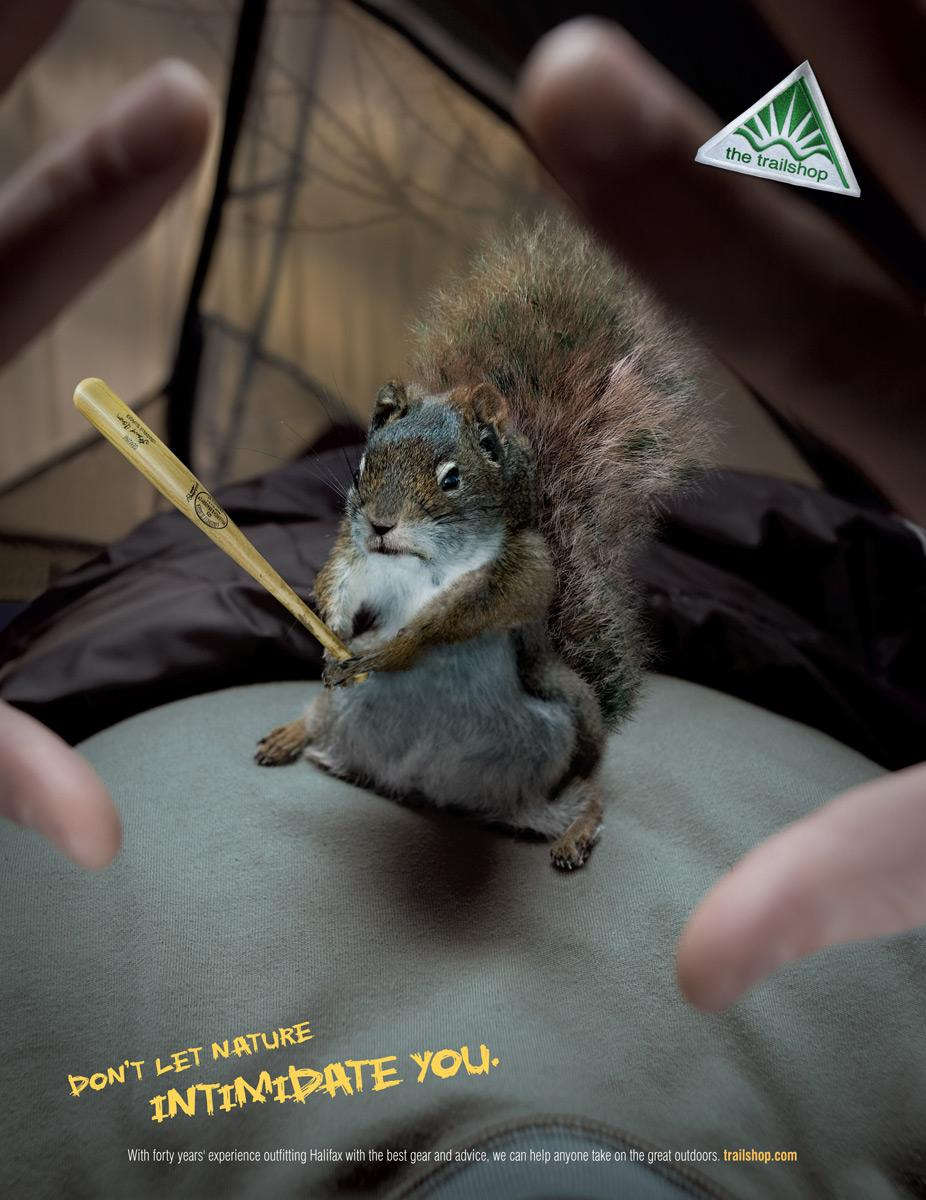 Trailshop Print Ad -  Squirrel