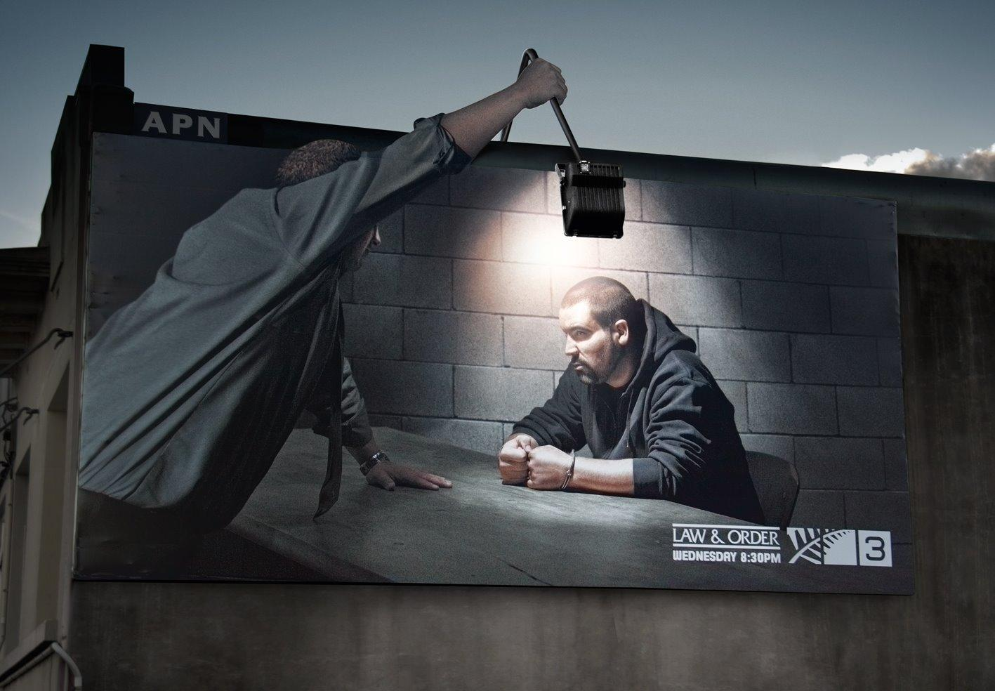 TV3 Outdoor Ad -  Law & Order outdoor lamp