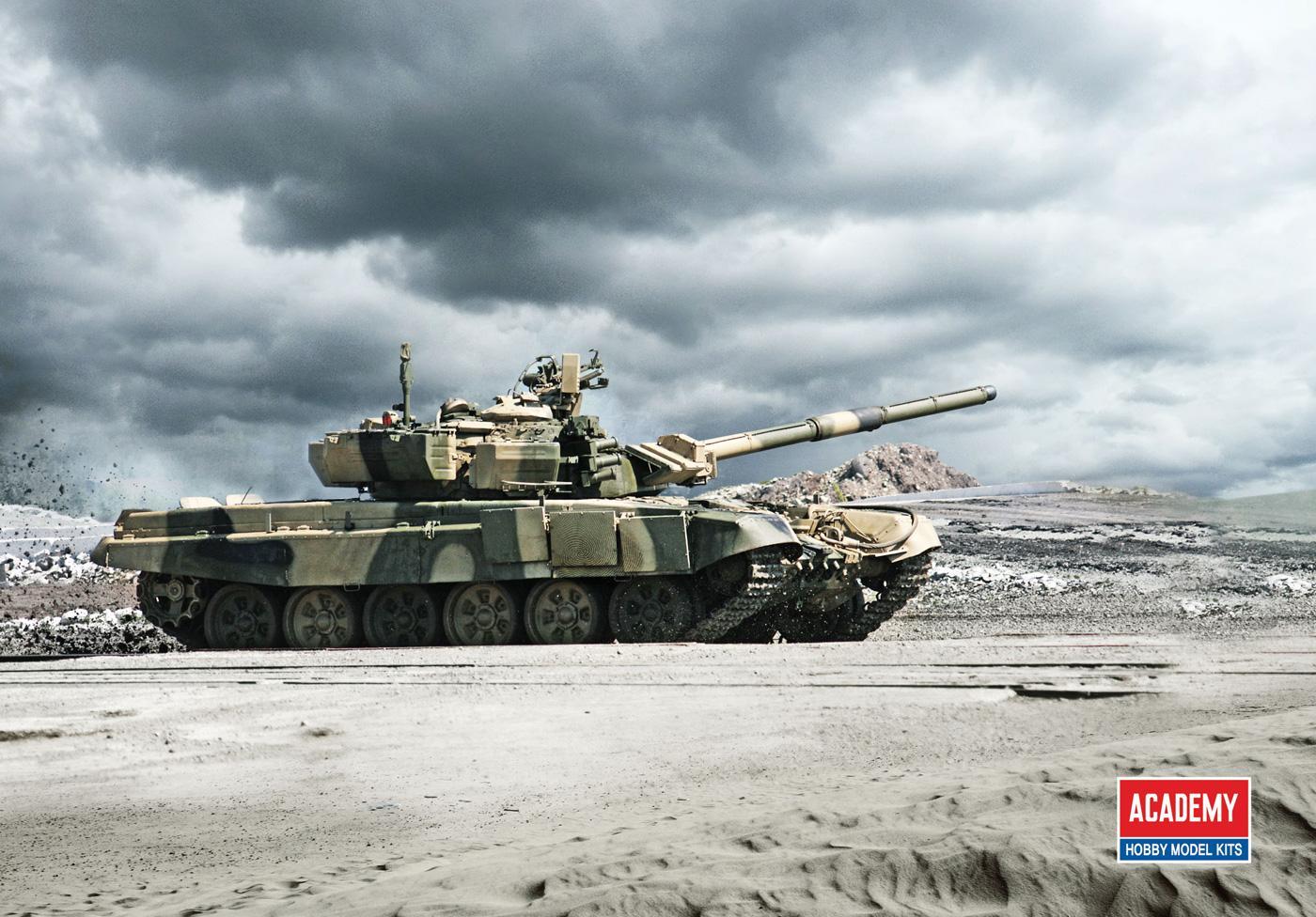 Academy Hobby Model Kits Print Ad -  T-90 Vladimir Battle Tank