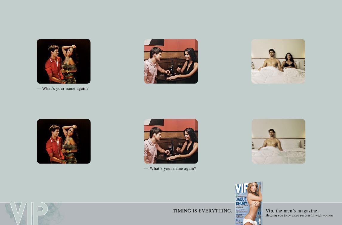 VIP Magazine Film Ad -  Timing 1