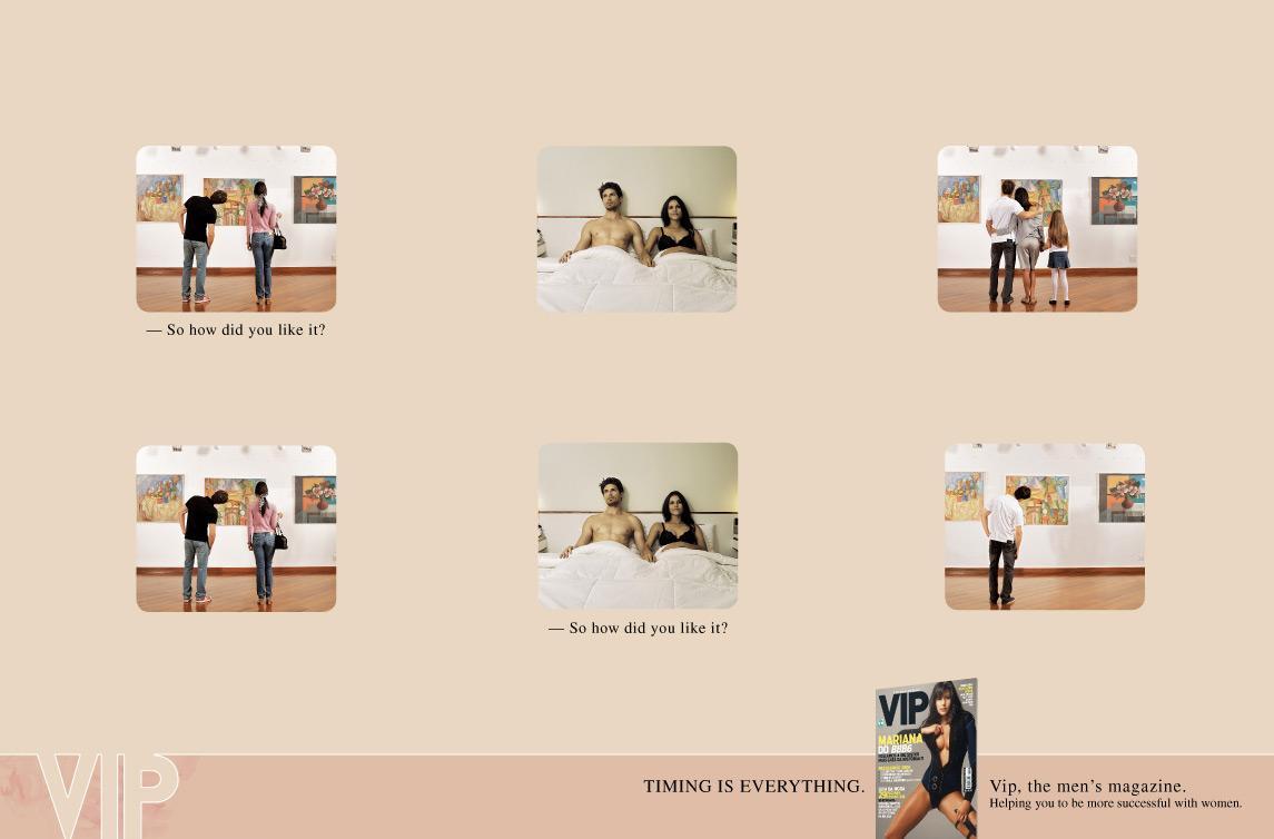 VIP Magazine Print Ad -  Timing 2