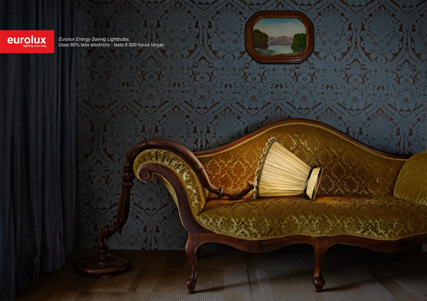 Eurolux Print Ad -  Tired stand lamp