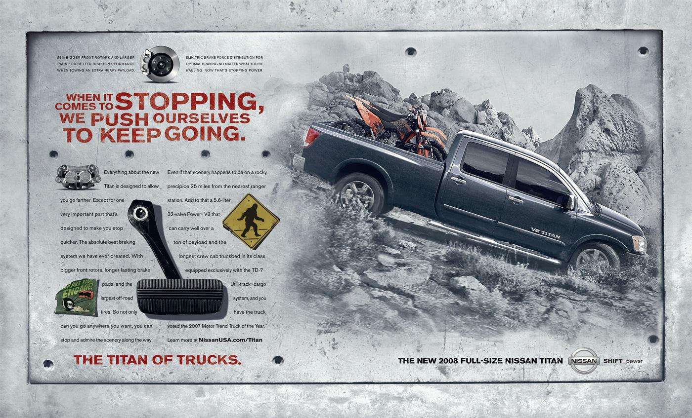 Nissan Print Ad -  Brakes