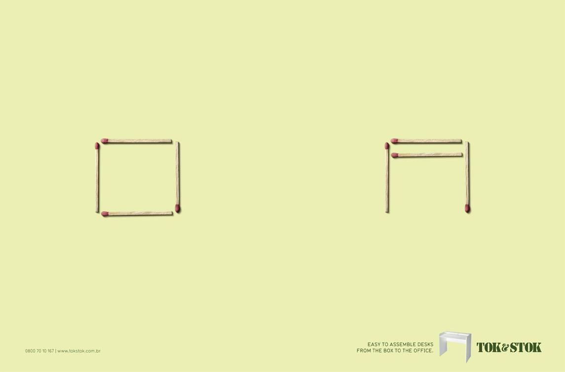 Tok&Stok Print Ad -  Matches, Desks