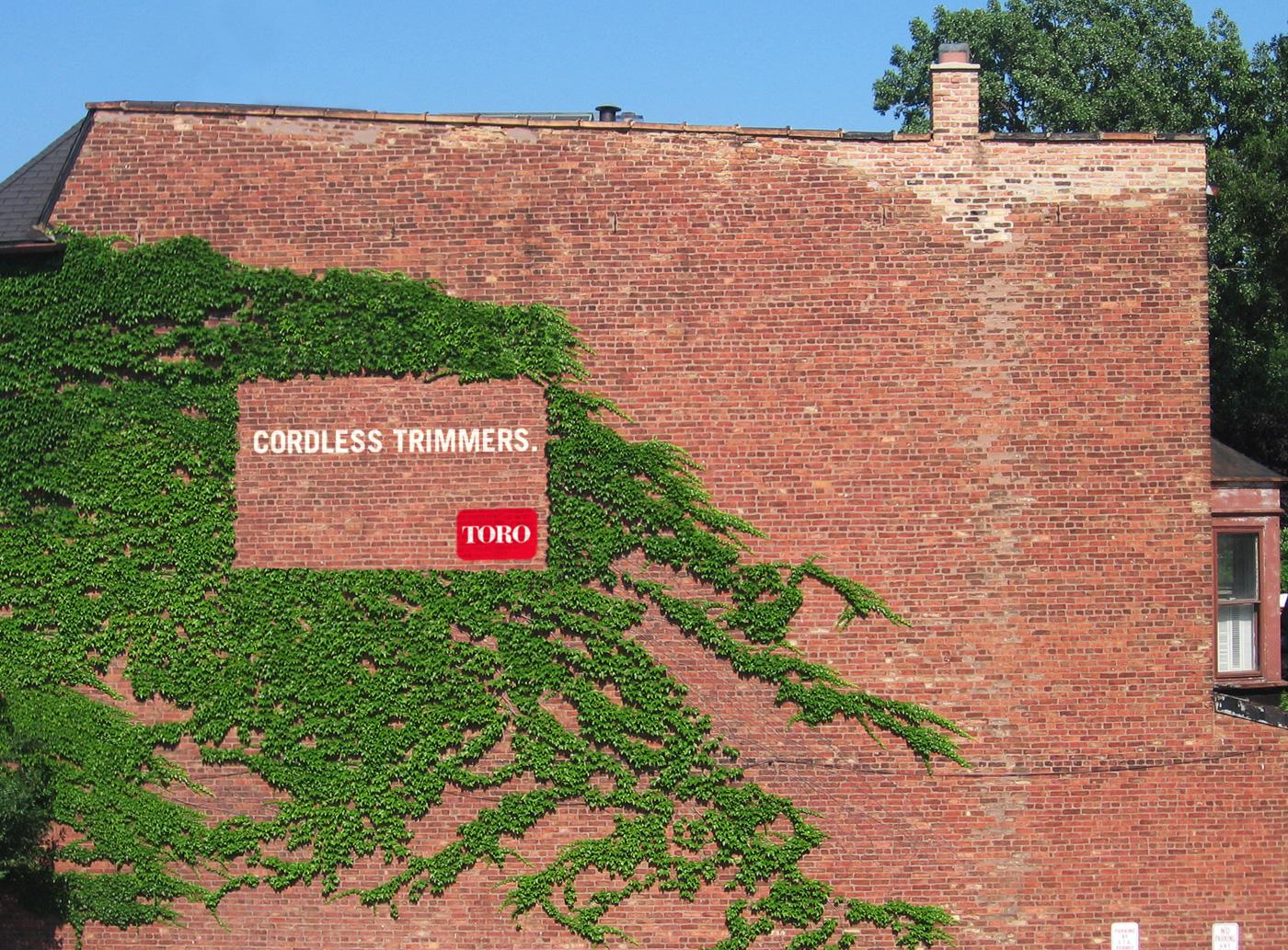 Toro Outdoor Ad -  Ivy wall