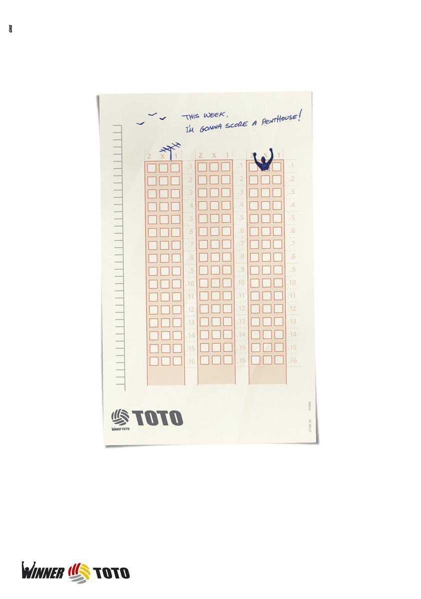 Toto Print Advert By Glickman-Nettler-Samsonov: I\'m gonna score a ...