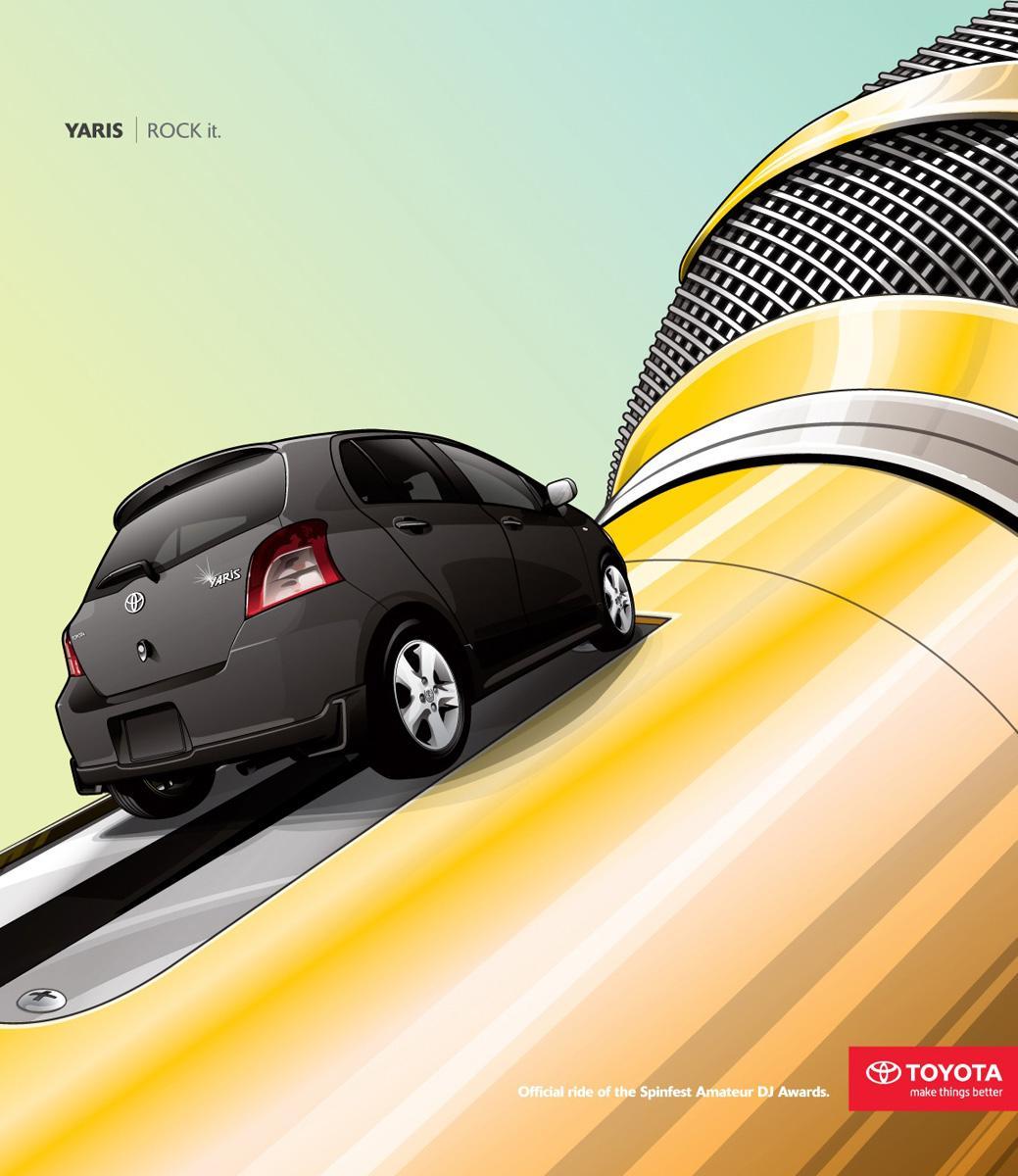 Toyota Print Ad -  Rock