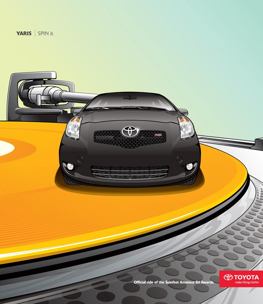 Toyota Print Ad -  Spin