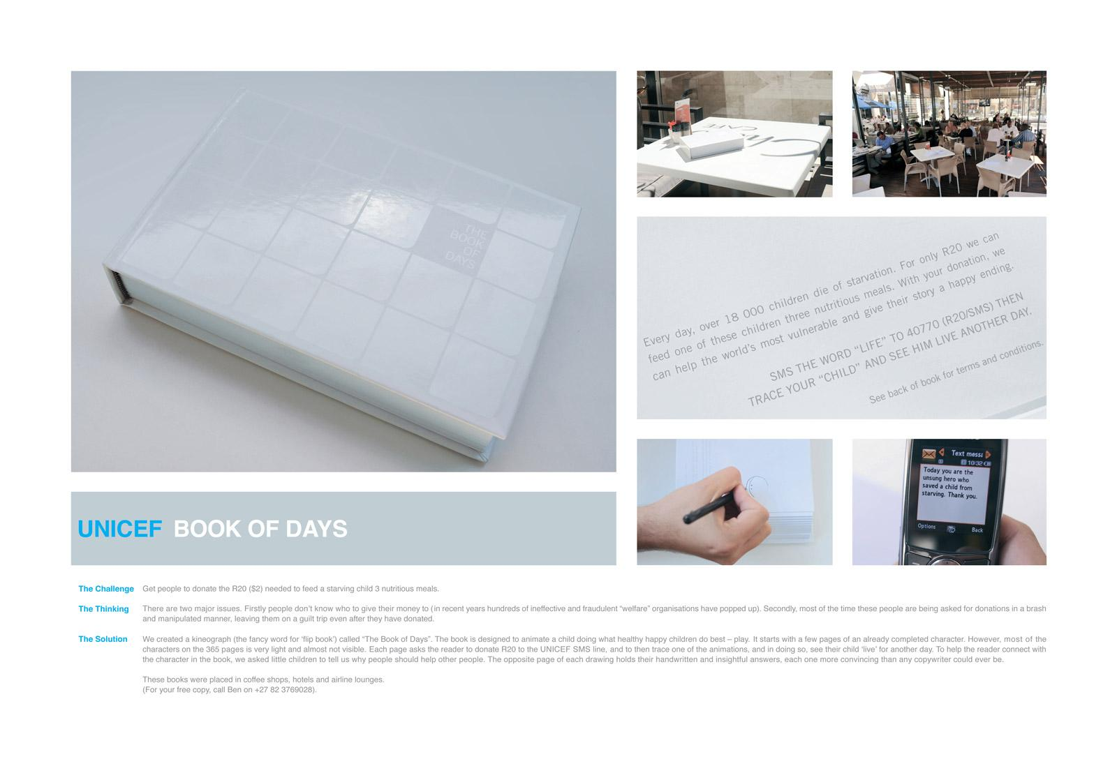 Unicef Ambient Ad -  Unicef Book Of Days