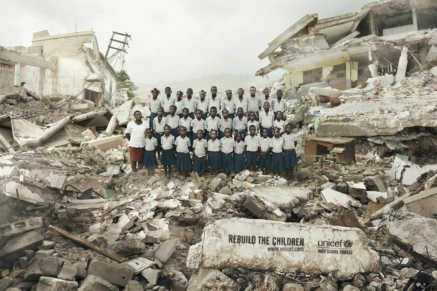 Unicef Print Ad -  Haïti School Project