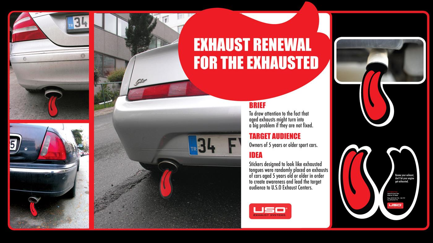 USO Exhaust Systems Ambient Ad -  Exhaust renewal for the exhausted, Tongue