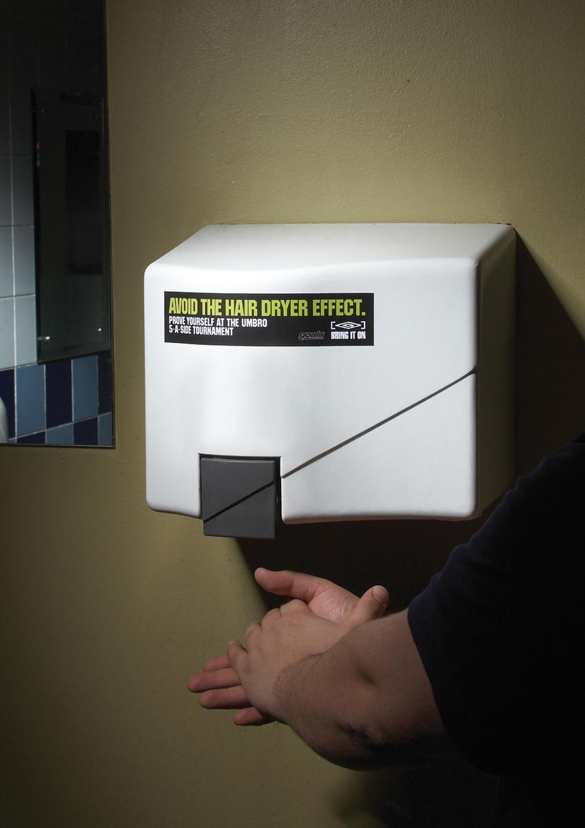 Umbro Ambient Ad -  Hand dryer