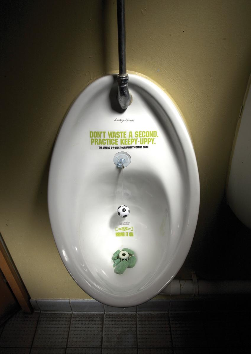 Umbro Ambient Ad -  Urinal