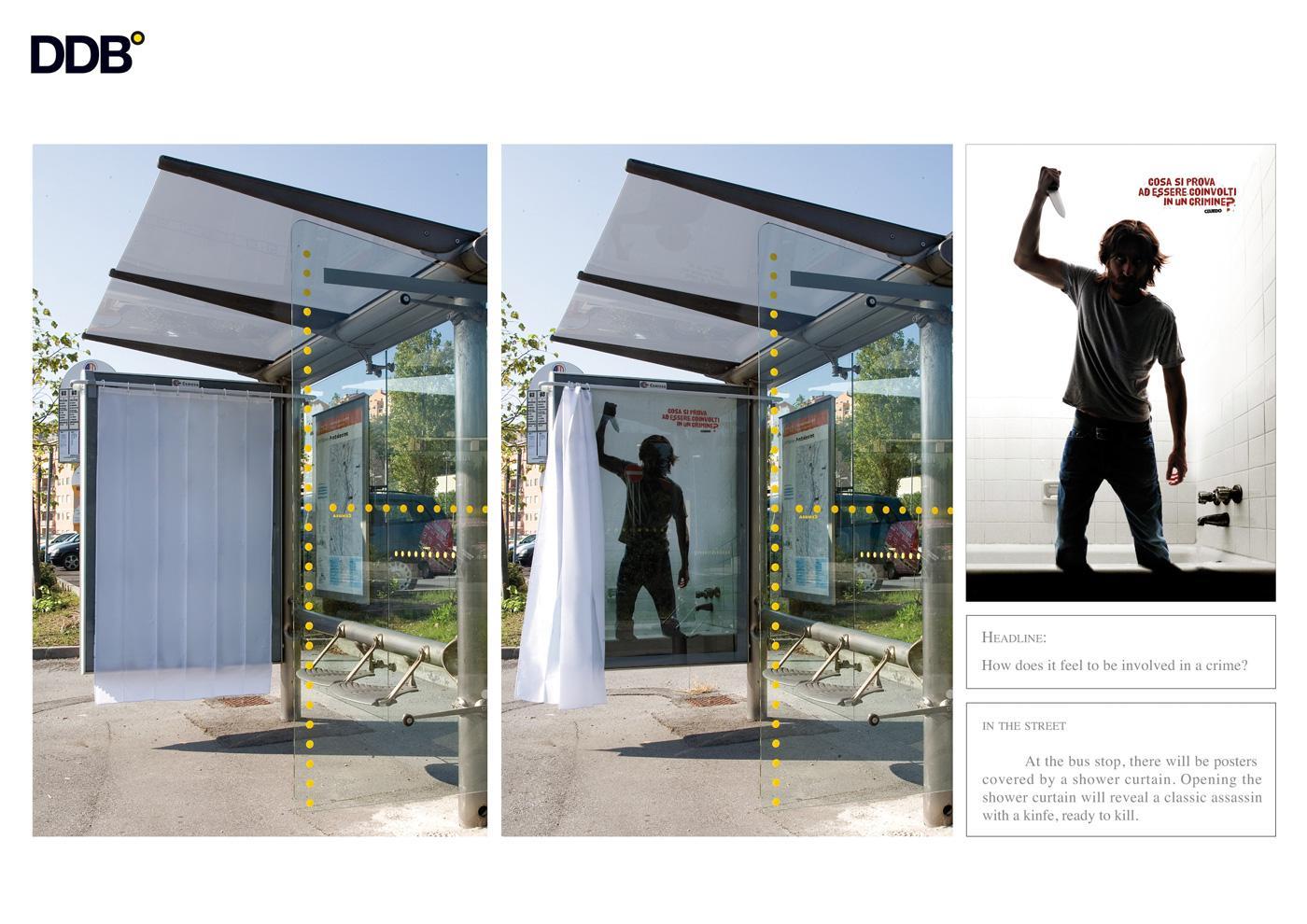 Cluedo Ambient Ad -  Bus stop killer