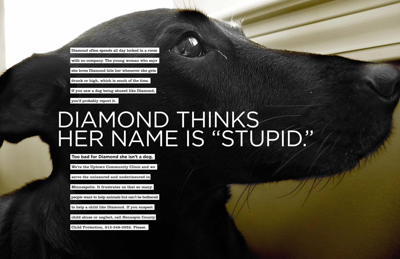 Uptown Community Clinic Print Ad -  Diamond