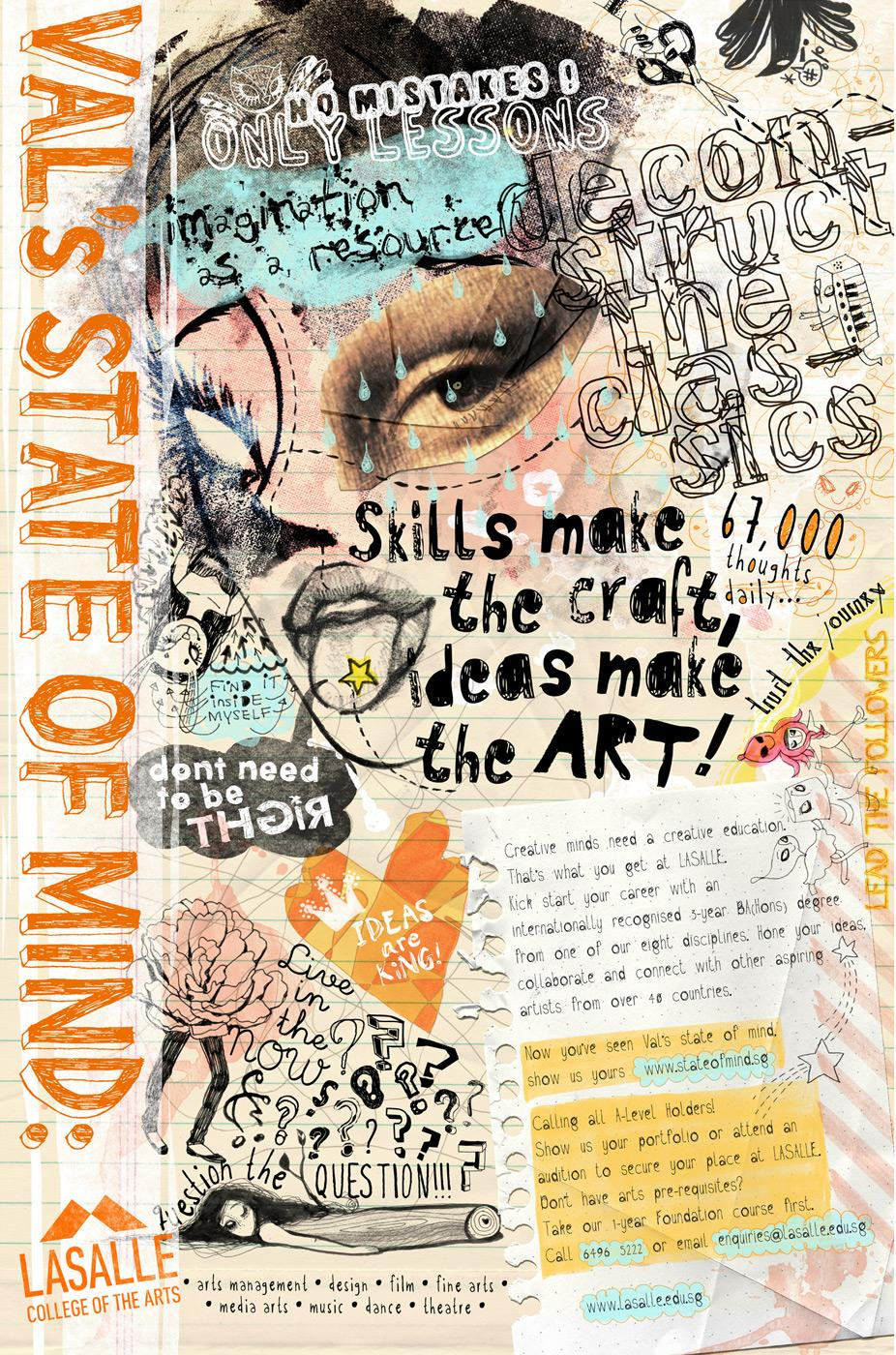 Lasalle College of the Arts Print Ad -  Kat's State of Mind