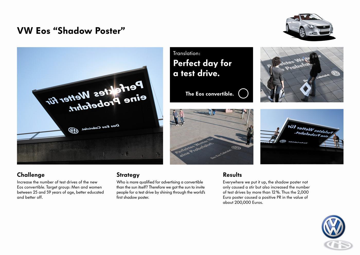 Volkswagen Ambient Ad -  Shadow
