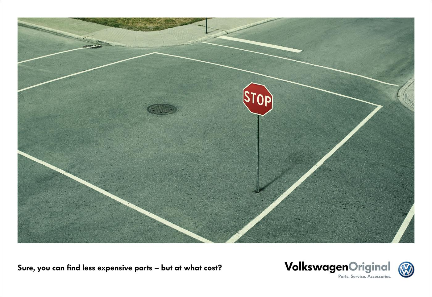Volkswagen Print Ad -  Stop sign