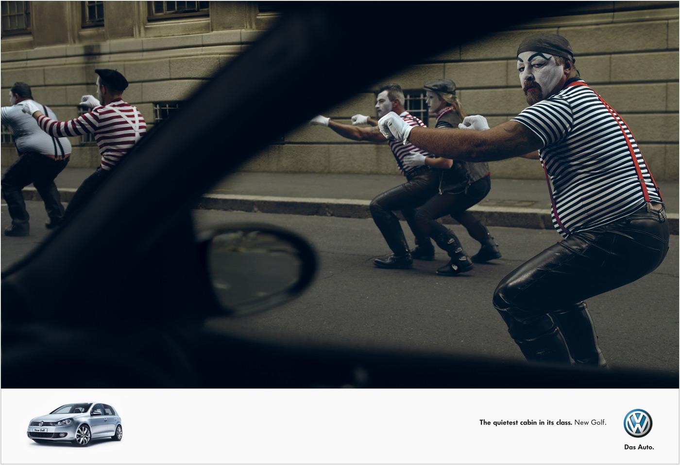 Volkswagen Print Ad -  Biker gang