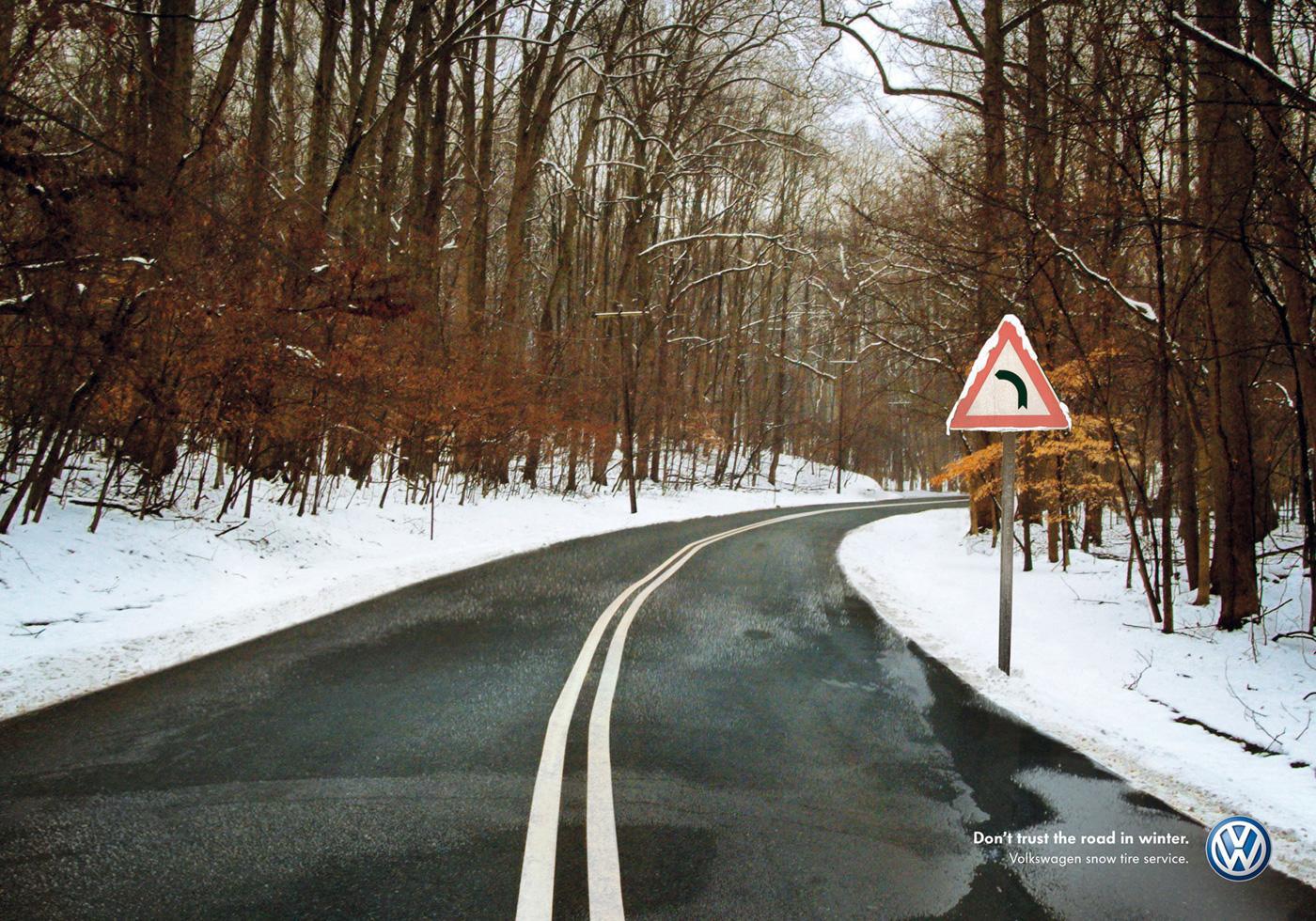 Volkswagen Print Ad -  Road, 1
