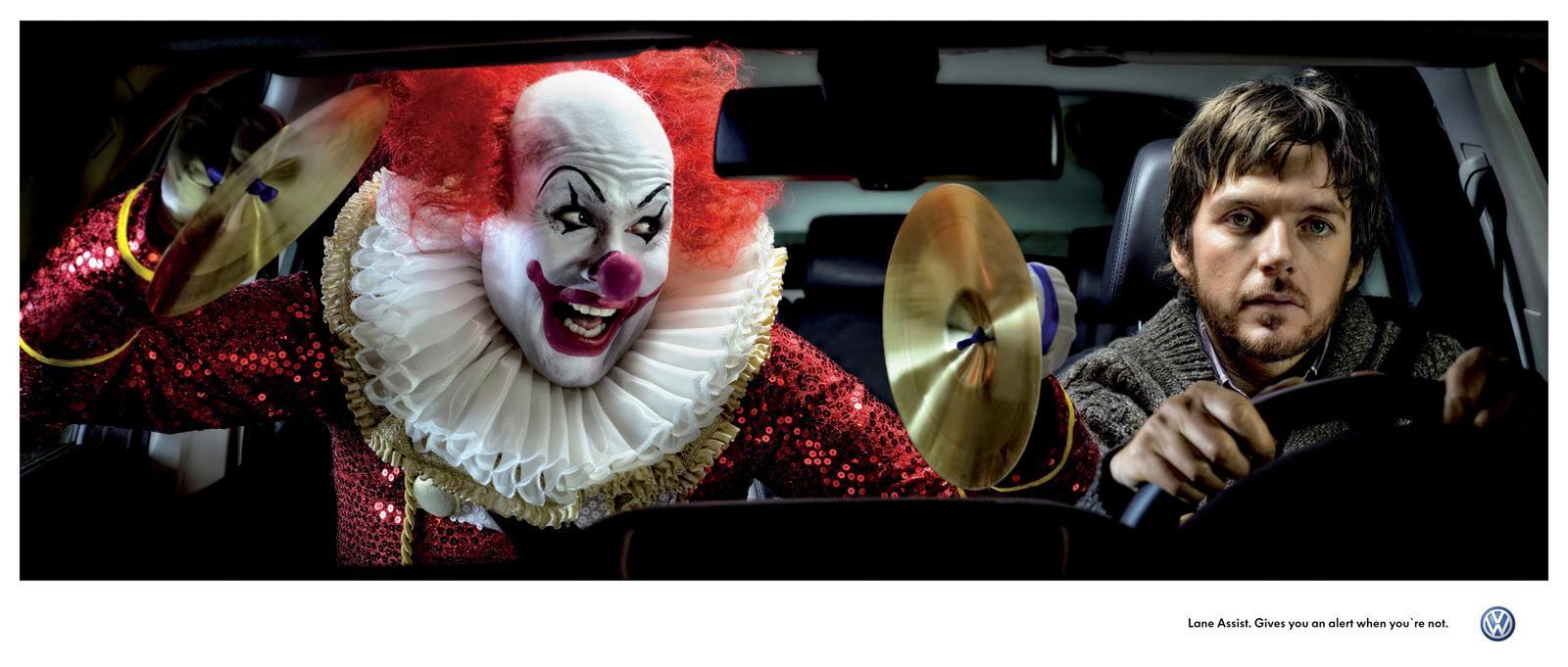 Volkswagen Print Ad -  Clown
