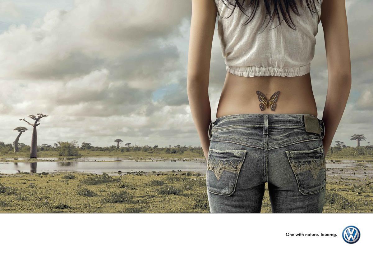 Volkswagen Print Ad -  Butterfly