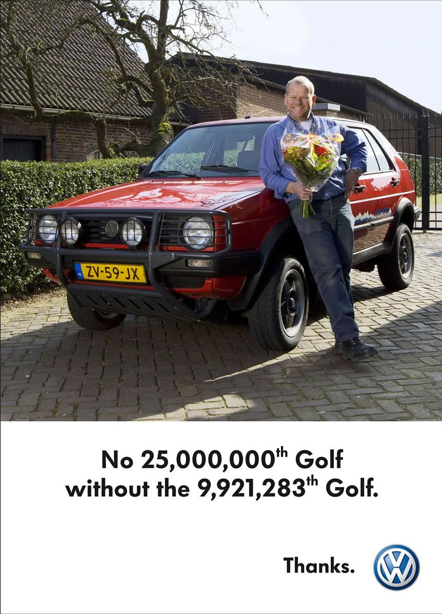 Celebration of the 25 millionth Golf, 1